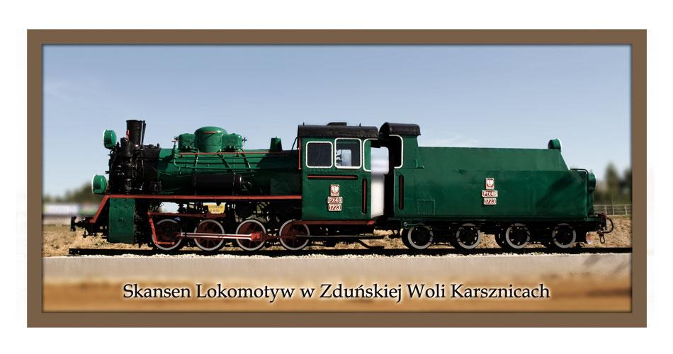 Pocztówka - Skansen Lokomotyw